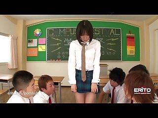 Erito schoolgirl gives her oral presentation