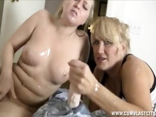 Double team and cum explosion
