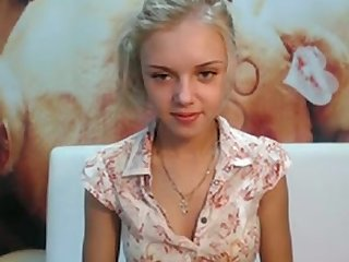 Cute young blonde webcam strip