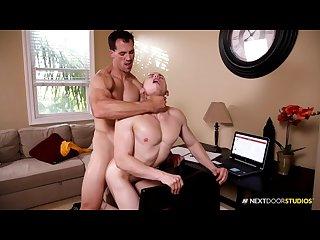 Nextdoorbuddies cute Nerd takes a bareback dick study break