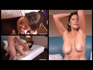 Sweet sexy granny abby pov blow job and sex on 3 screens