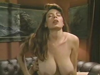 Christy canyon loves fucking on red couches