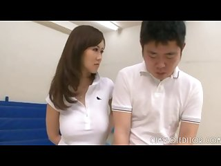Young busty japanese tennis coach thoroughly enjoyed