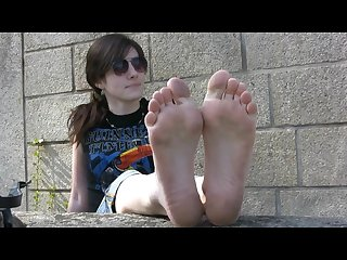 Cute french teen dirty feet soles foot fetish