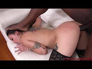 Petite Mi Ha Doan casting takes a black cock stuffing
