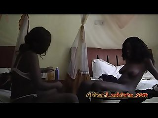 Black lesbians satisfying each other