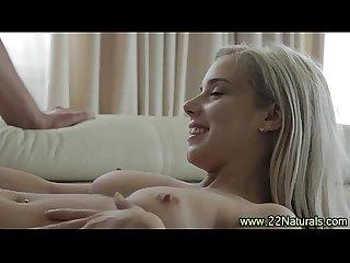 Petite Babe rides cock