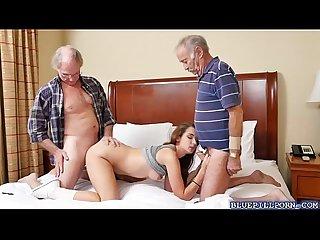 College babe naomi Alice sucks old men cocks