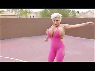 Giant fake tits claudia marie colon prancercise