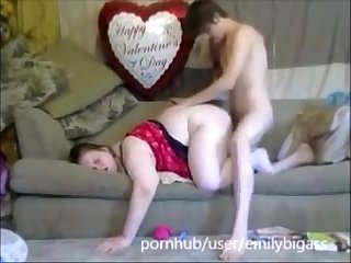 Husband Give Wife Best Valentines Day Gift Pussy Full Of Cum