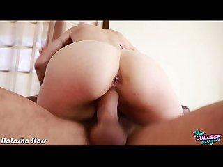 College honey Natalia Starr fucking a big dick