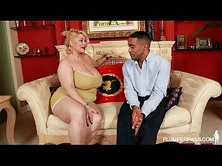 Bbw superstar Samantha 38g fucks horny black fan