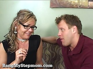 Horny Wife Cheats With Her Stepson!