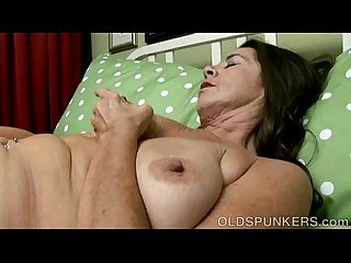 Awesome Old spunker fucks her soaking wet pussy for you