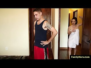 Stepmom seduce and fuck son