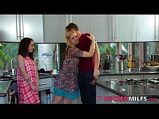 Guy Next Door Fucks Dirty Mom & Her Daughter Lily Jordan