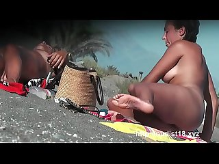 Nudist beach voyeur Video starts off with A perky breasted blonde