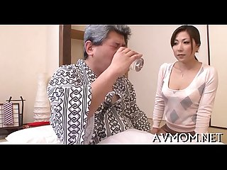 Lustful mom receives kinkly with dildo