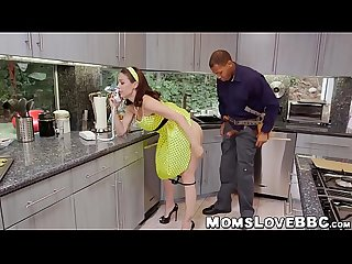 MILF housewife with big jugs fucks with hung black guys