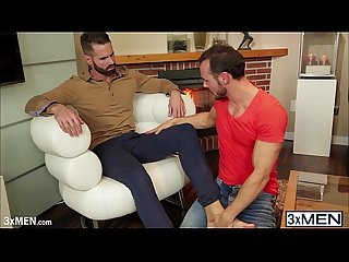 Hunky dude dani robles and Gabriel vanderloo sucking each other dick