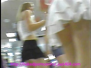 Teen upskirts at mall