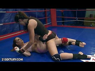 Nudefightclub presents playful ann vs denisa heaven