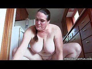 Grandma s masturbation feast